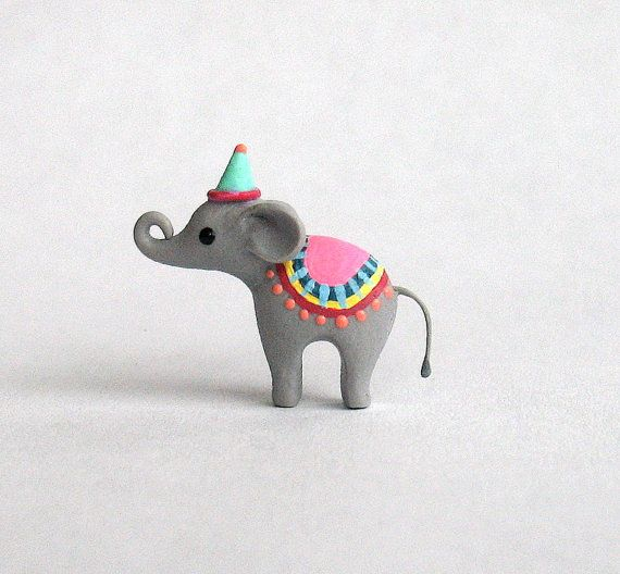 Miniature Adorable Circus Elephant OOAK by C. Rohal