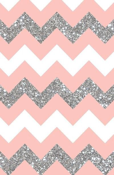 Pink white grey sparkle stripe chevron