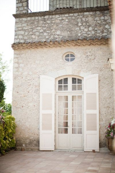 White french doors/shutters