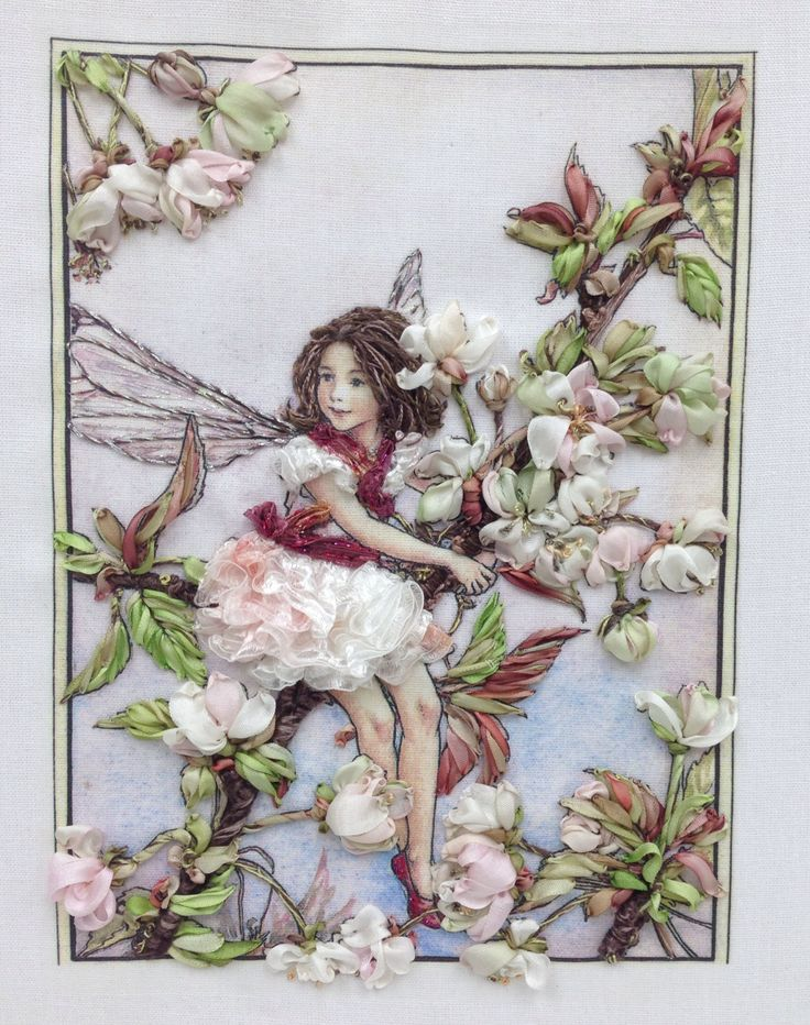 Flower Fairy embroidery - Annisa Lam