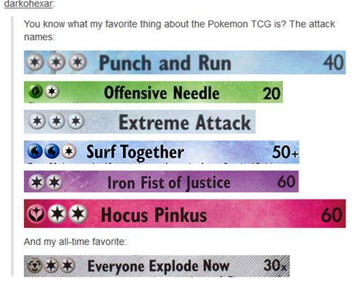 Pokemon Card attacks...