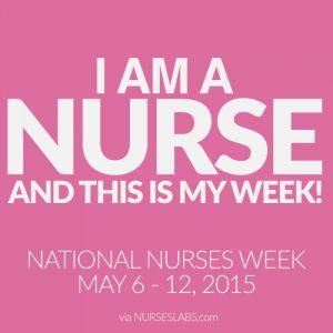 Happy Nurses Week! Visit: http://nurseslabs.com/nurses-week-2015/ for more info!