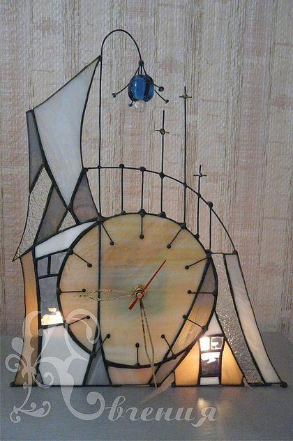 """Часы для дома ручной работы. Ярмарка Мастеров - ручная работа Часы """" Сказочный домик"""""""". Handmade."""