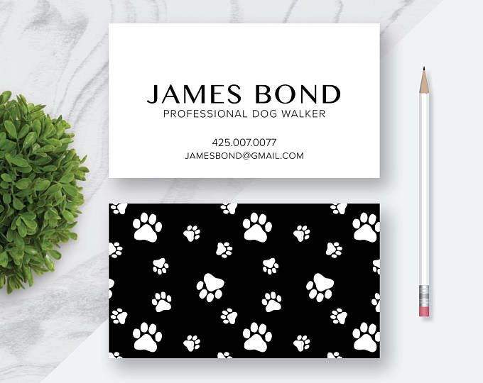 Dog Paws | Puppy | Printable Custom Personalized Business Card | Fun Business Card | Dog Walker | Pet Sitter | Paws Card | 3.5 x 2 | Printable Digital File