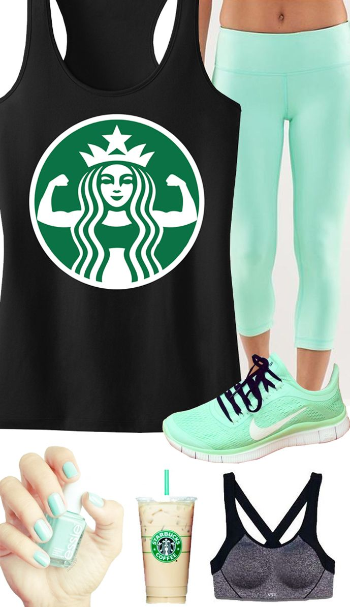 COFFEE POWER! Cool Mint themed Workout Gear featuring a COFFEE POWER Workout Tank Top by Nobull Woman Apparel, $24.99 on Etsy. Perfect color for Spring!