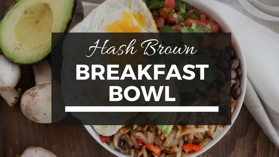 Fuel up after your long run with this Hash Brown Breakfast Bowl from Street Smart Nutrition