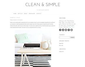 #Wordpress theme - Clean and Simple by Theme Fashion on Creative Market