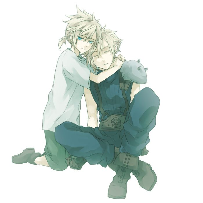Young and Adult Cloud Strife (Final Fantasy VII)