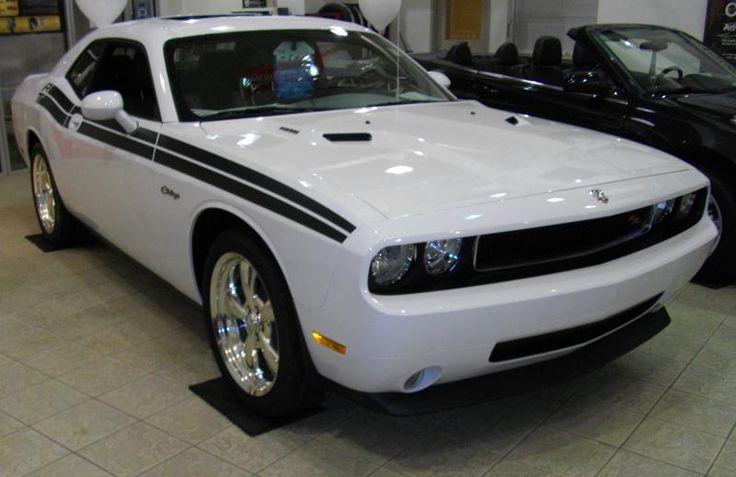 Bright White Dodge Challenger