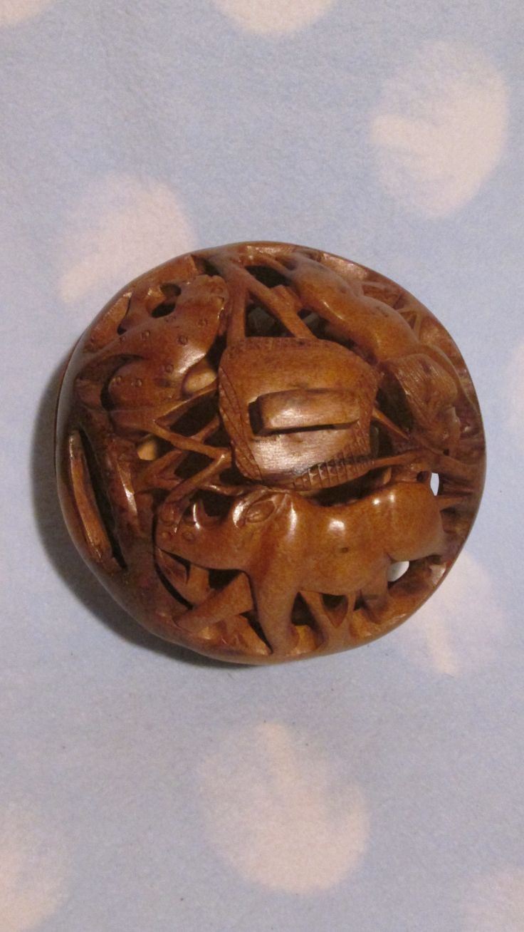 Wooden Carved Bowls - Animals - small size