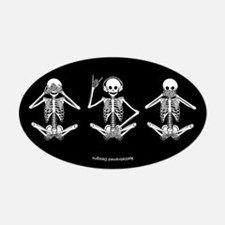 Hear No Evil? Oval Bumper Stickers for