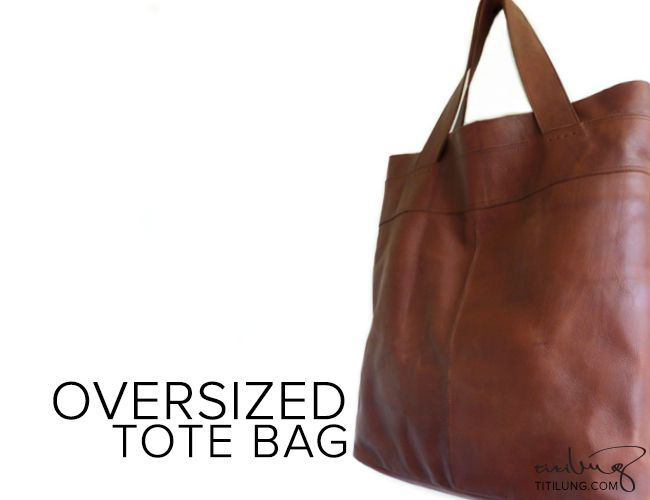 Never overestimate oversized tote bags because you may need to carry your life! :D  Product by Titilung
