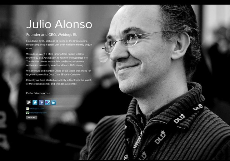 Julio Alonso's page on about.me – http://about.me/julioalonso