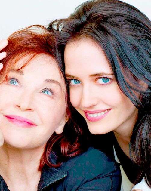 Eva Green with her mother Marlene Jobert