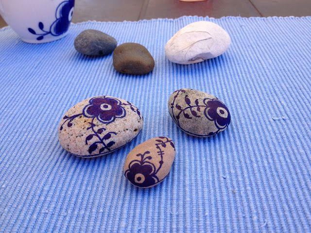 Bellas bedrifter: Mal mussel-malet sten...Trin for trin DIY