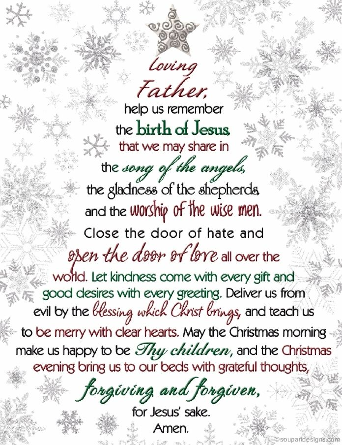 A Christmas Prayer                                                                                                                                                                                 More