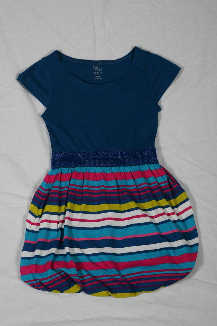 Blue Striped Bubble Dress - $29.95 @ Children's Place