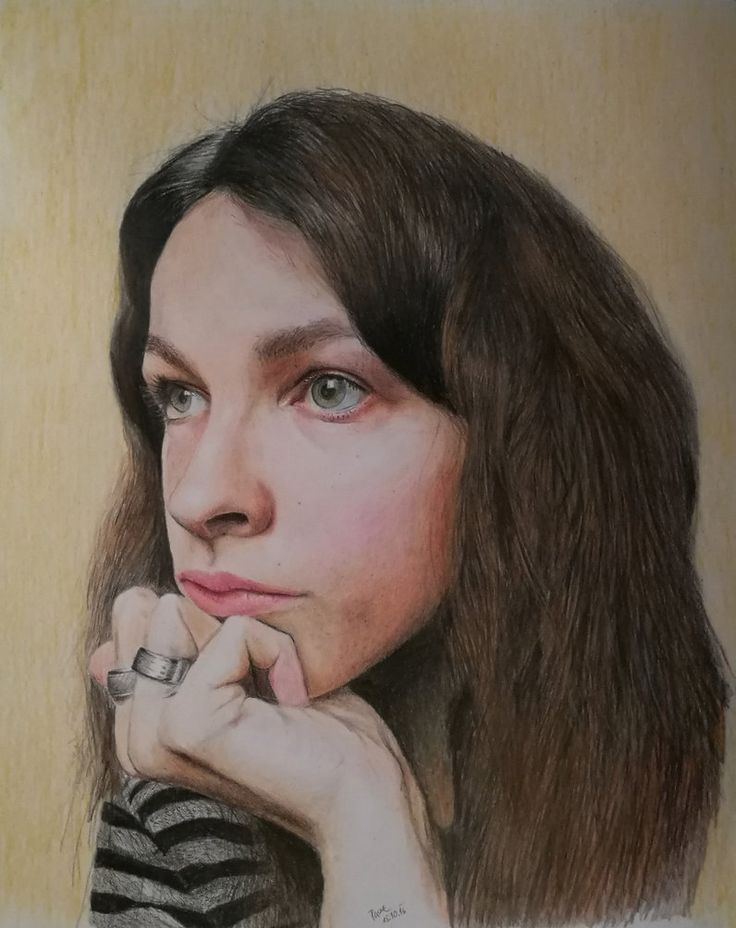 Self-portrait drawing by NotOKFun on DeviantArt