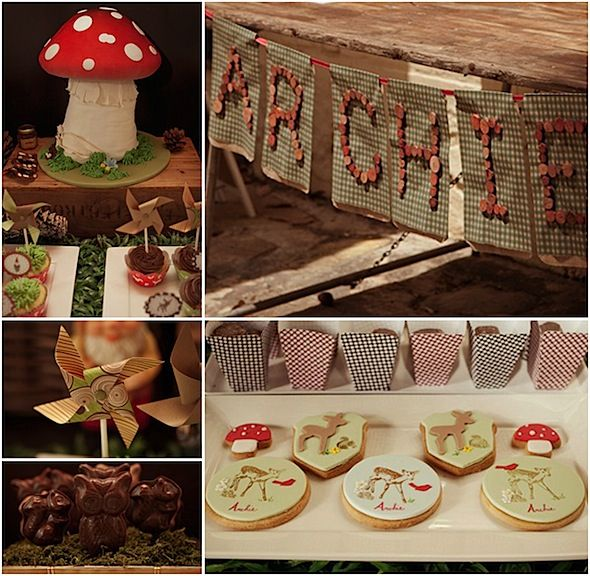 Woodland folk party!  *So* cute.: Cookies, Birthday Parties, Woodland Ideas, Toadstool Cake, Folk Parties, Babbit Parties, Parties Ideas, Boys Woodland Parties, Buttons Banners
