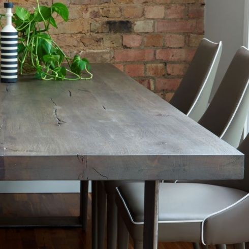Die besten 25+ Distressed wood dining table Ideen auf Pinterest