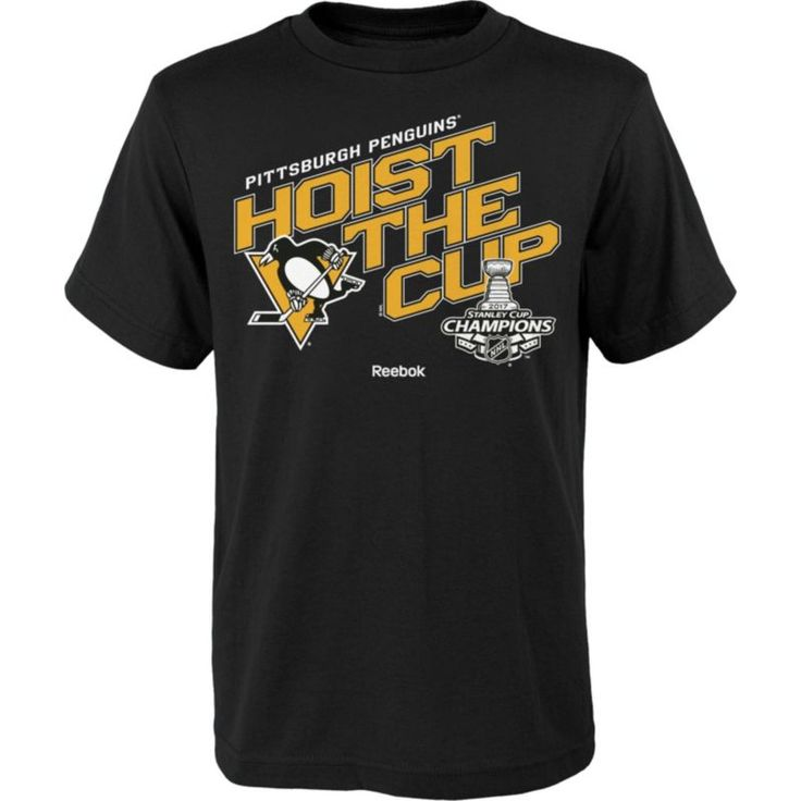 Reebok Youth 2017 NHL Stanley Cup Champions Pittsburgh Penguins Power Play T-Shirt, Size: Medium, Team