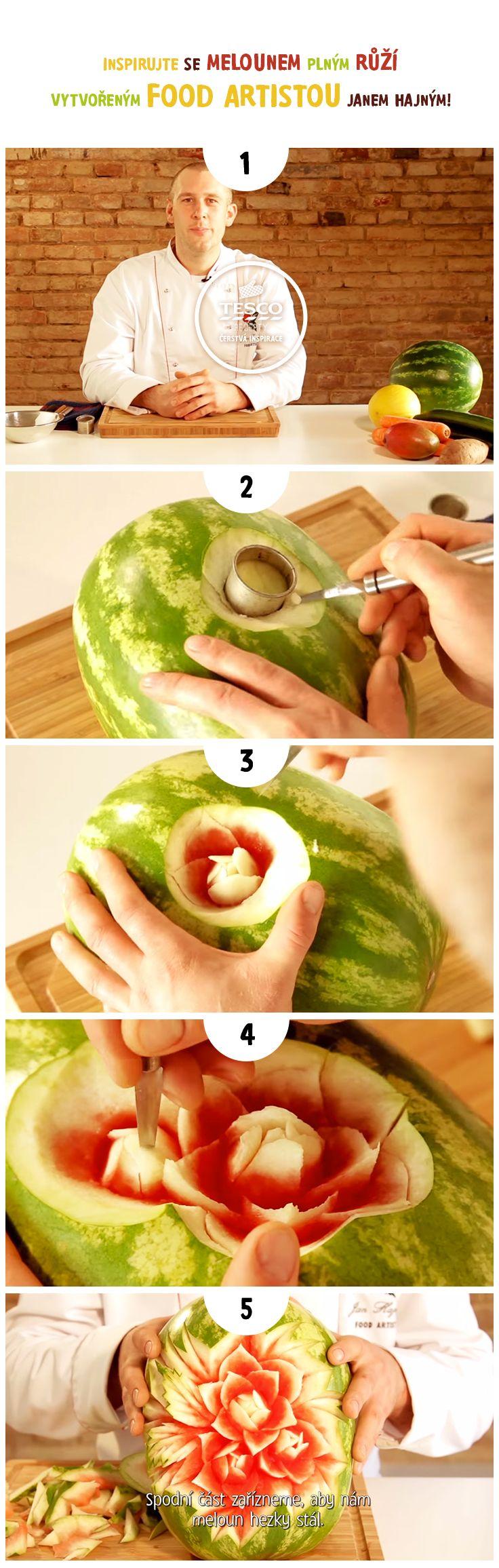 Vytvořte meloun plný růží podle našeho videa!