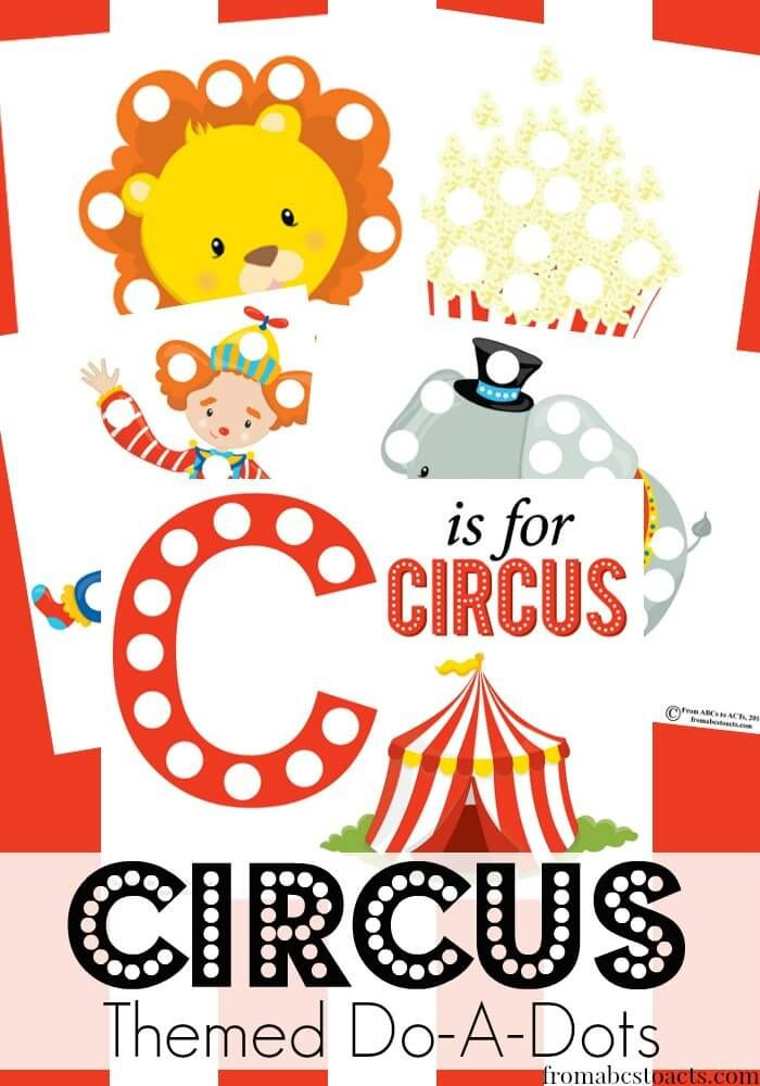 178 best do a dot images on pinterest do a dot for Circus printables