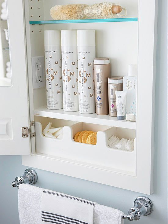 Give Cosmetic Sponges And Cotton Rounds A Home By Storing Them In Small Bins Or Containers