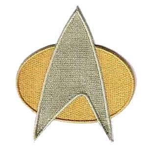 "MINI Star Trek The Next Generation Communicator Insignia 2"" Patch"