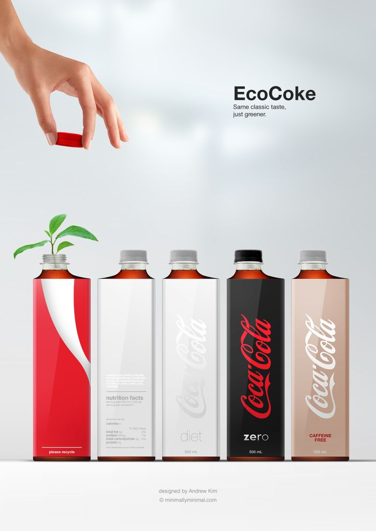A more efficient Coca Cola bottle. What a fantastic design project and process, by Andrew Kim (Minimally Minimal).
