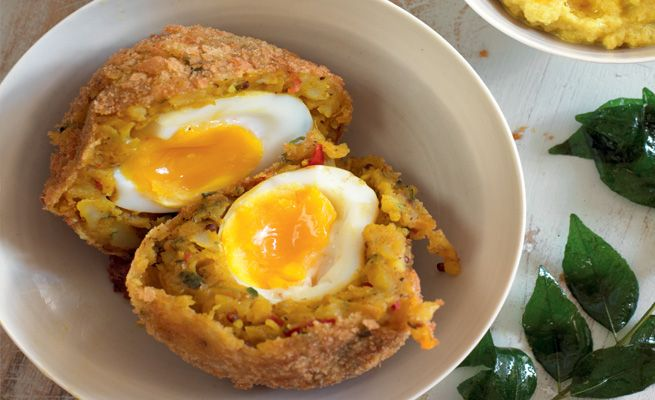 bombay potato scotch egg