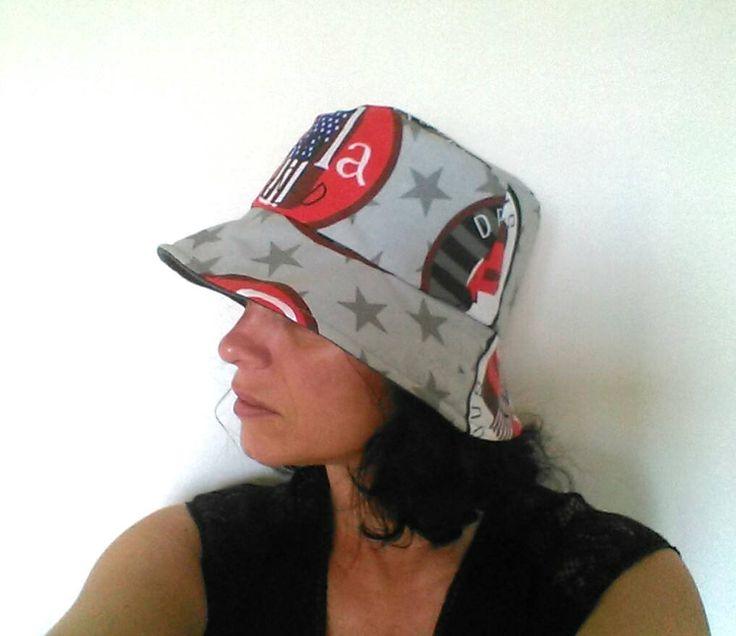 Chapeau de pluie / chapeau imperméable en coton enduit / chapeau doublé de polaire /chapeau femme /bonnet de pluie /chapeau cloche étanche de la boutique AuZizileBazar sur Etsy