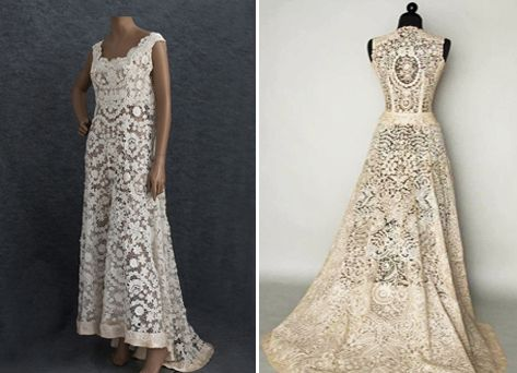 Stunning Irish Crochet Wedding Dress Pattern Pictures - Styles ...