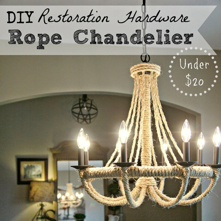 Blessu0027er House: DIY Restoration Hardware Knock Off Rope Chandelier