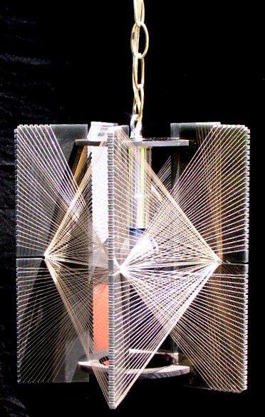 String Art Lucite Hanging Light