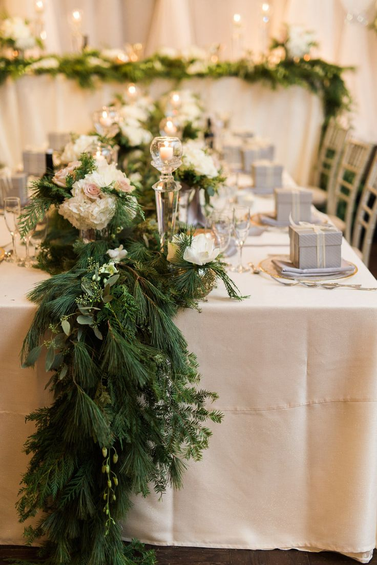 Winter Wedding Decor Toronto Wedding Venue Head Table Ideas