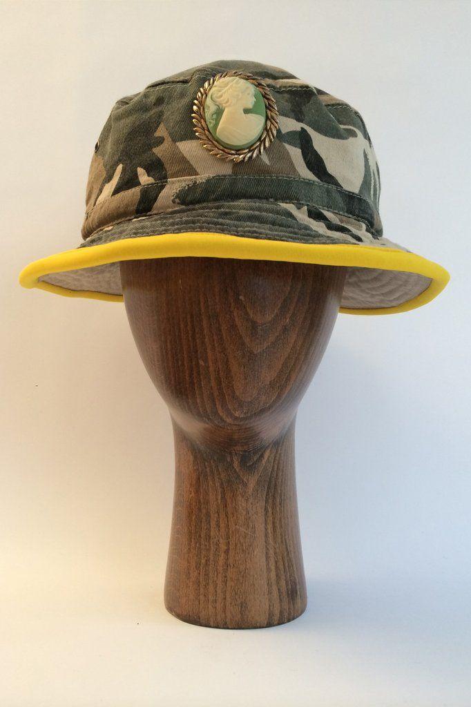 Camo / Cameo Bucket Hat (Yellow)