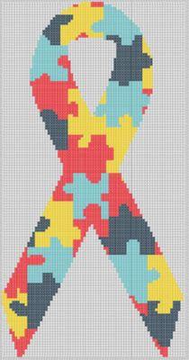 Free Autism Awareness Cross Stitch Pattern