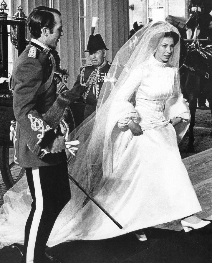 Princesse Anne le jour de son mariage en 1973.