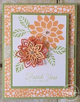 Flourishing Phrases stamp set, Flourish Thinlits Dies, Stampin Up, 2016-2017 Annual Catalogue, hand stamped thank you card