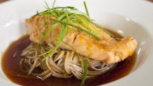 Honey Soy Salmon with Buckwheat Noodles Janella Purcell