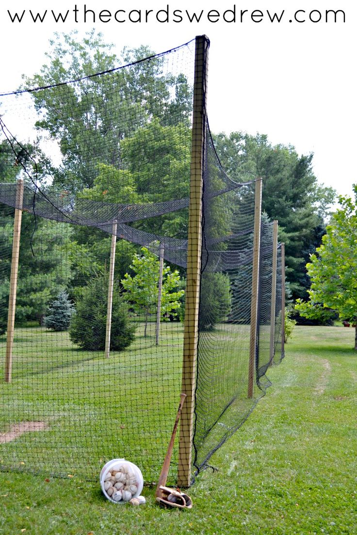 How to Build a Batting Cage {Part Two} Batting cage