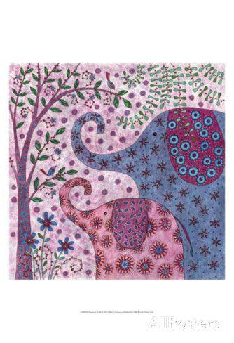 Elephant Talk Art Print