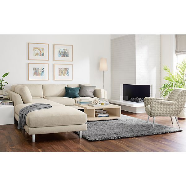 Cade Sofa With Chaise   Modern Sectionals   Modern Living Room Furniture    Room U0026 Board