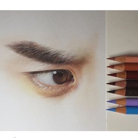 By @wsalome :heart_eyes::heart_eyes: :eyes: Tag your Colored Pencil artwork with #cp_art for a chance to be featured :eyes: #portrait #pencilportrait #eyedrawing #eyesketch #portraiture #eye #portraits #portraitdrawing