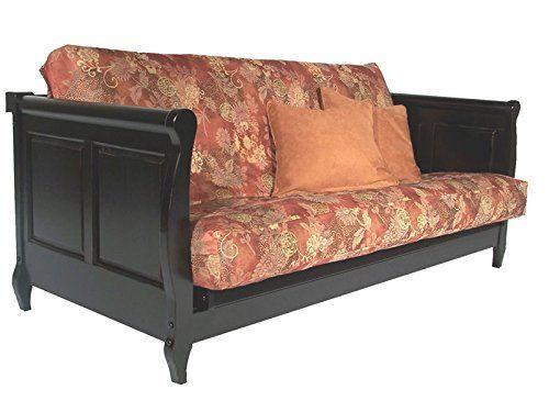 Adriana Antique Black Full Wall Hugger Futon Frame by Strata Furniture