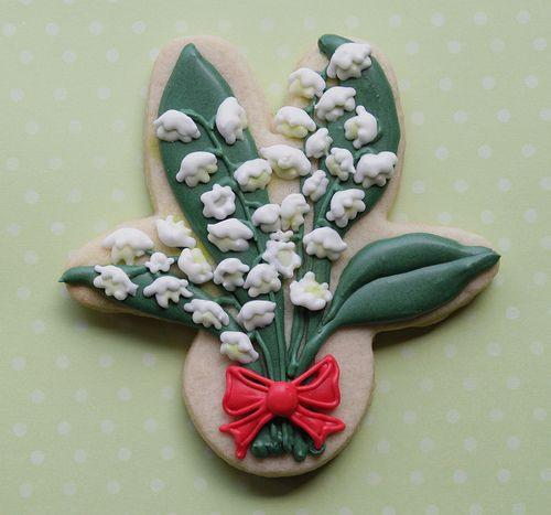 Lily of the Valley cookies Posey