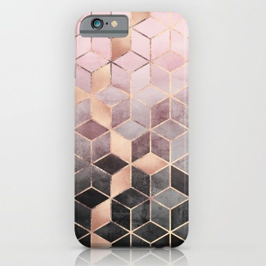 Pink And Grey Gradient Cubes iPhone & iPod Case by Elisabeth Fredriksson. Worldwide shipping available at Society6.com. Just one of millions of high quality products available.