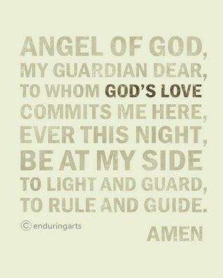 this is the prayer i said every night with my daughter when she was little