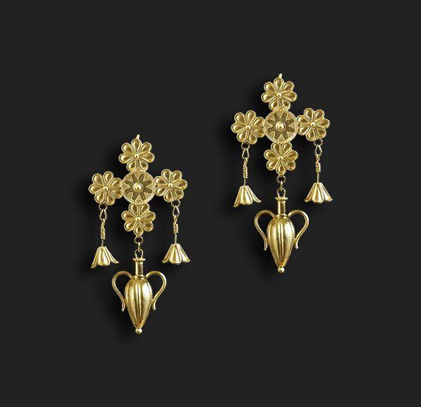 Gold earrings MAIA Akelo